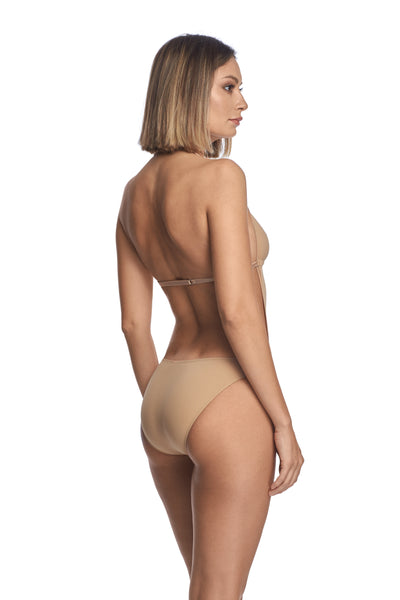 Essentials Cut-Out Bodysuit in Nude - I.D. Sarrieri