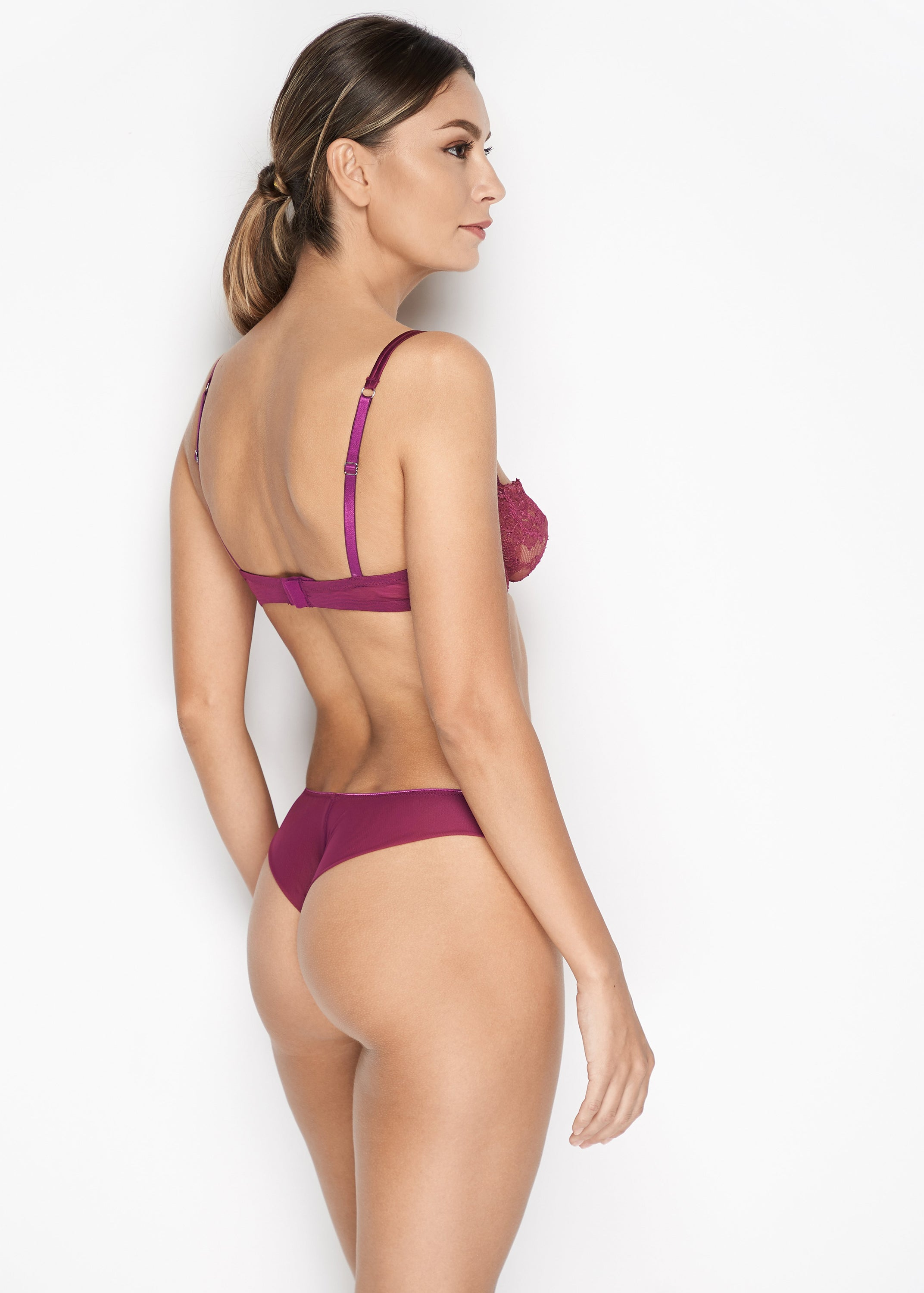 Jardin Des Roses Thong in Orchid