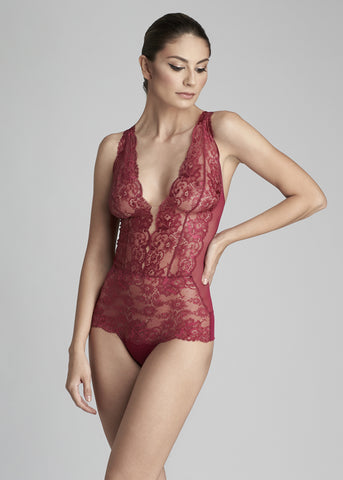 Bohemian Sundays Bodysuit in Wine