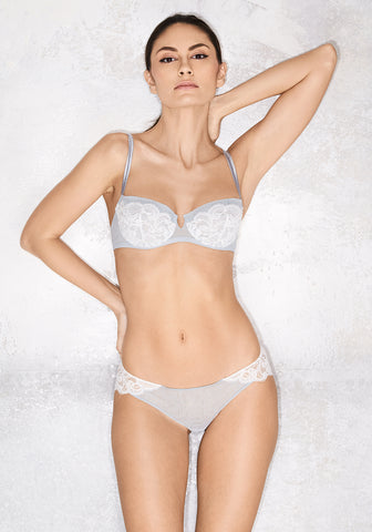 Eternal Mist Panty String in Ivory/Grey