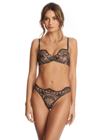 Nuit Interdit Underwired Balconette Bra in Ruby