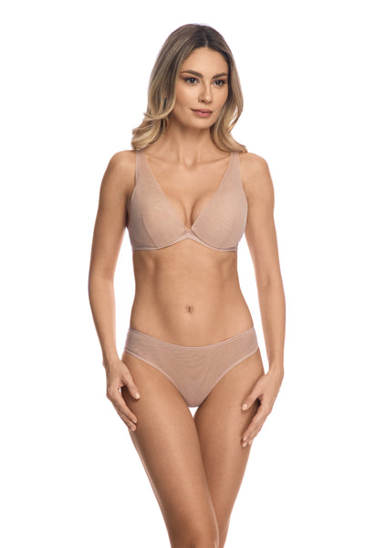 Clair de Lune Special Design Plunge Push-Up Bra in Wild Rose - I.D. Sarrieri