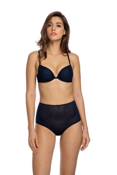 Clair de Lune High Waist Brief in Midnight Blue - I.D. Sarrieri