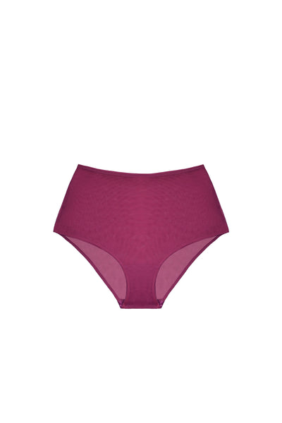 Clair de Lune High Waist Brief in Bordeaux - I.D. Sarrieri