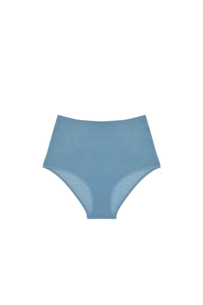 Clair de Lune High Waist Brief in Sky Blue - I.D. Sarrieri