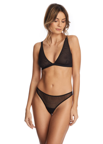 Clair de Lune Triangle Cup Bra in Black - I.D. Sarrieri