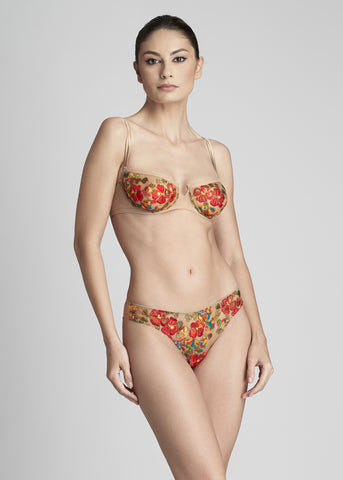Annabelle Brazilian Brief in Coral
