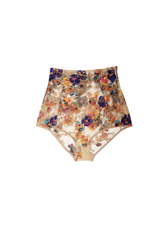 Wonderland Delights High Waist Brief in Copper Haze
