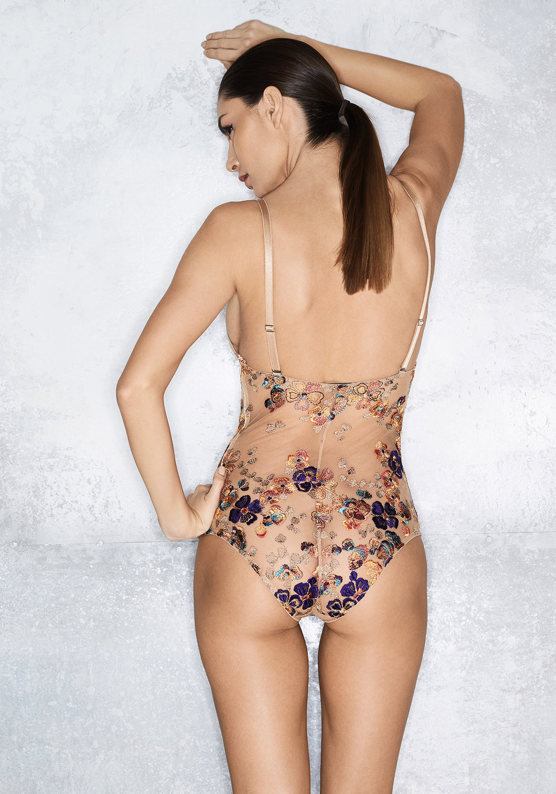 Wonderland Delights Triangle Cup Bodysuit in Copper Haze - I.D. Sarrieri