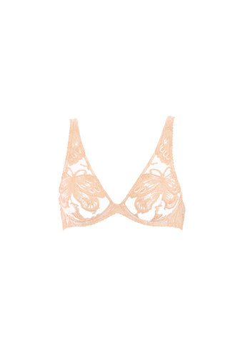 Fleur Interdit Triangle Bra in Skin/Black
