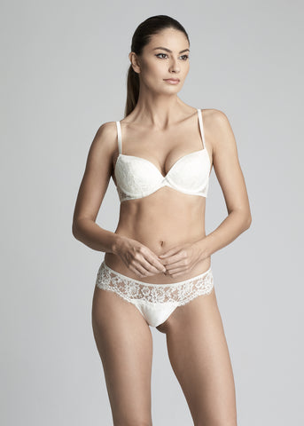 Rose Imperial balconette bra
