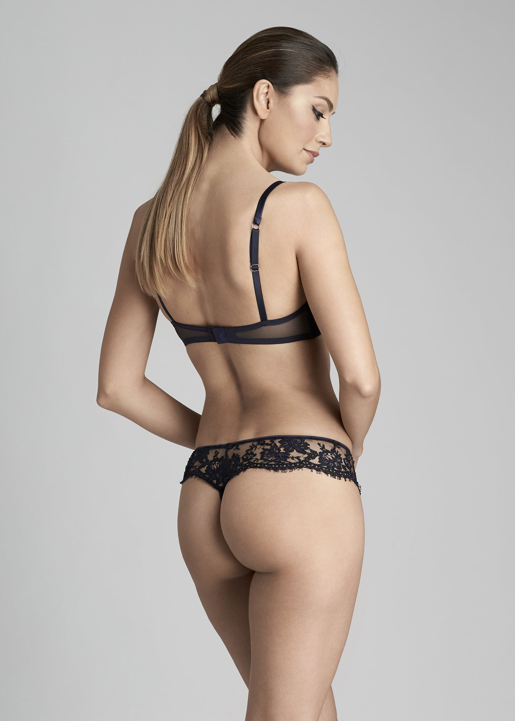 Fantasia Thong in Navy