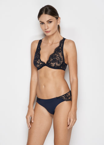 Fantasia Underwired Triangle Bra in Navy