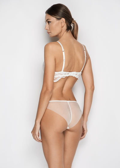 Bella Brazilian Brief in Pearl White