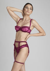 Moulin Rouge Underwired Balconette Bra in Violet Sauvage