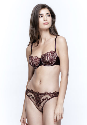 La Naissance d'Aphrodite Push-Up Bra in Améthyste Royale