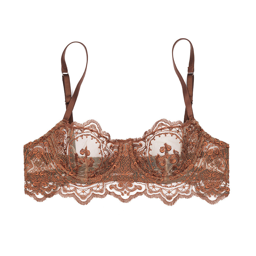 Le Désir Balconette Bra in Chocolate - I.D. Sarrieri