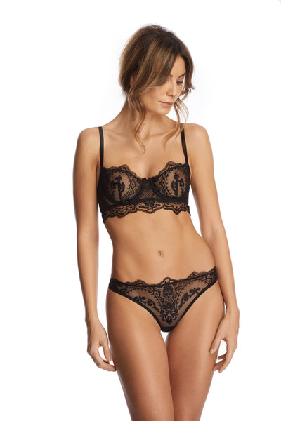Le Désir Balconette Bra in Black