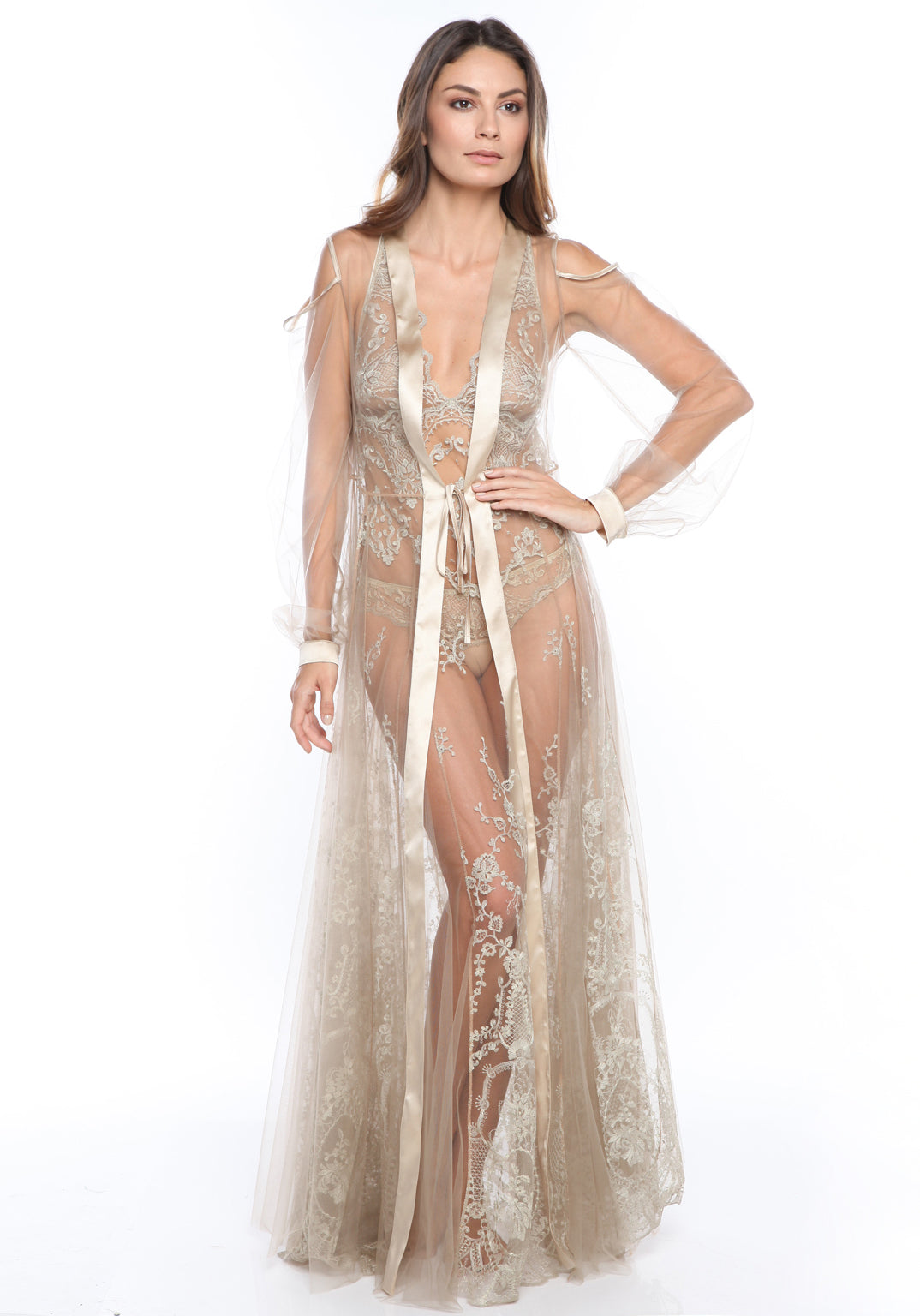 Mystère De Minuit Long Robe in Imperial Gold