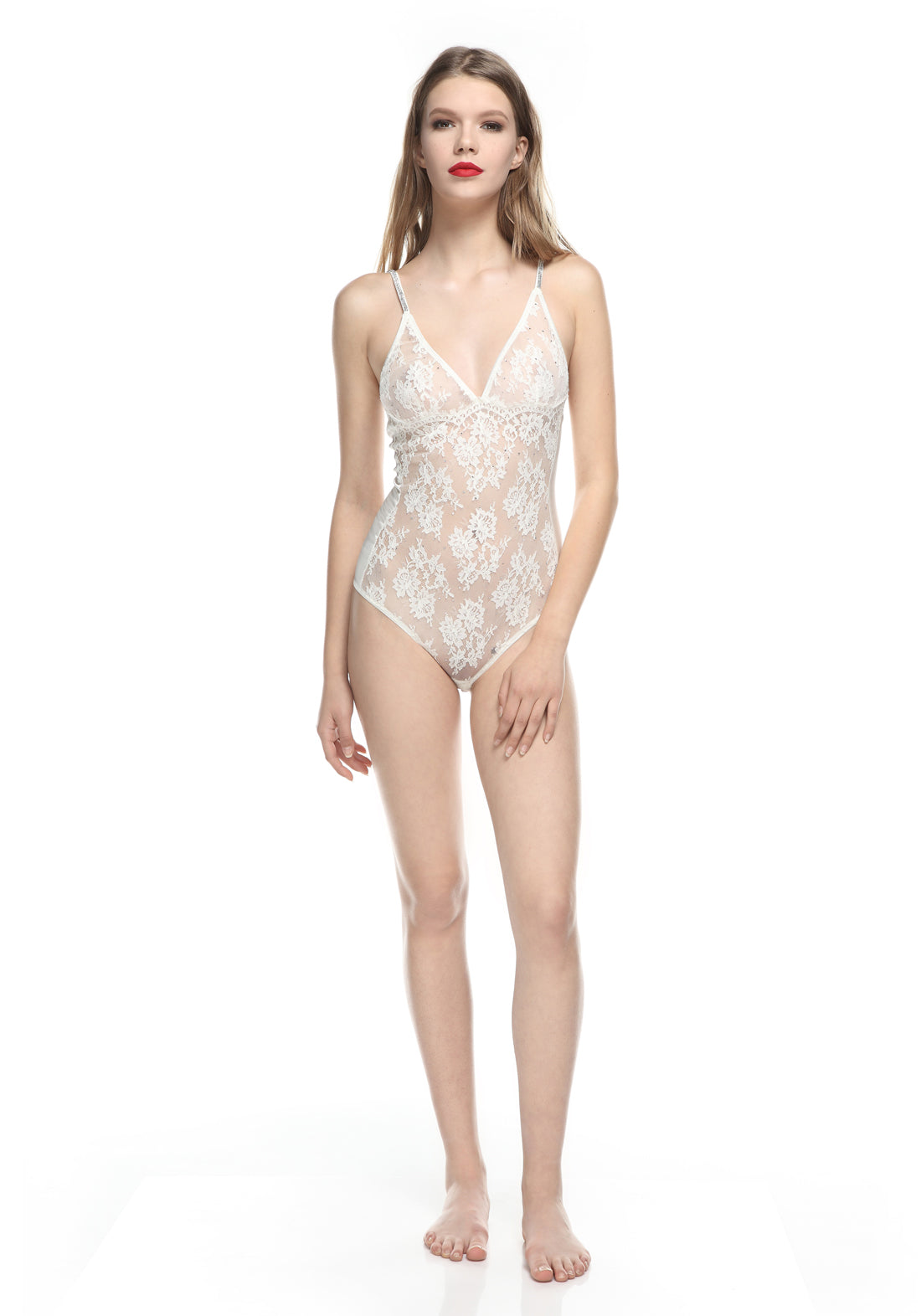 Allure d'Amour Bodysuit in Ivory