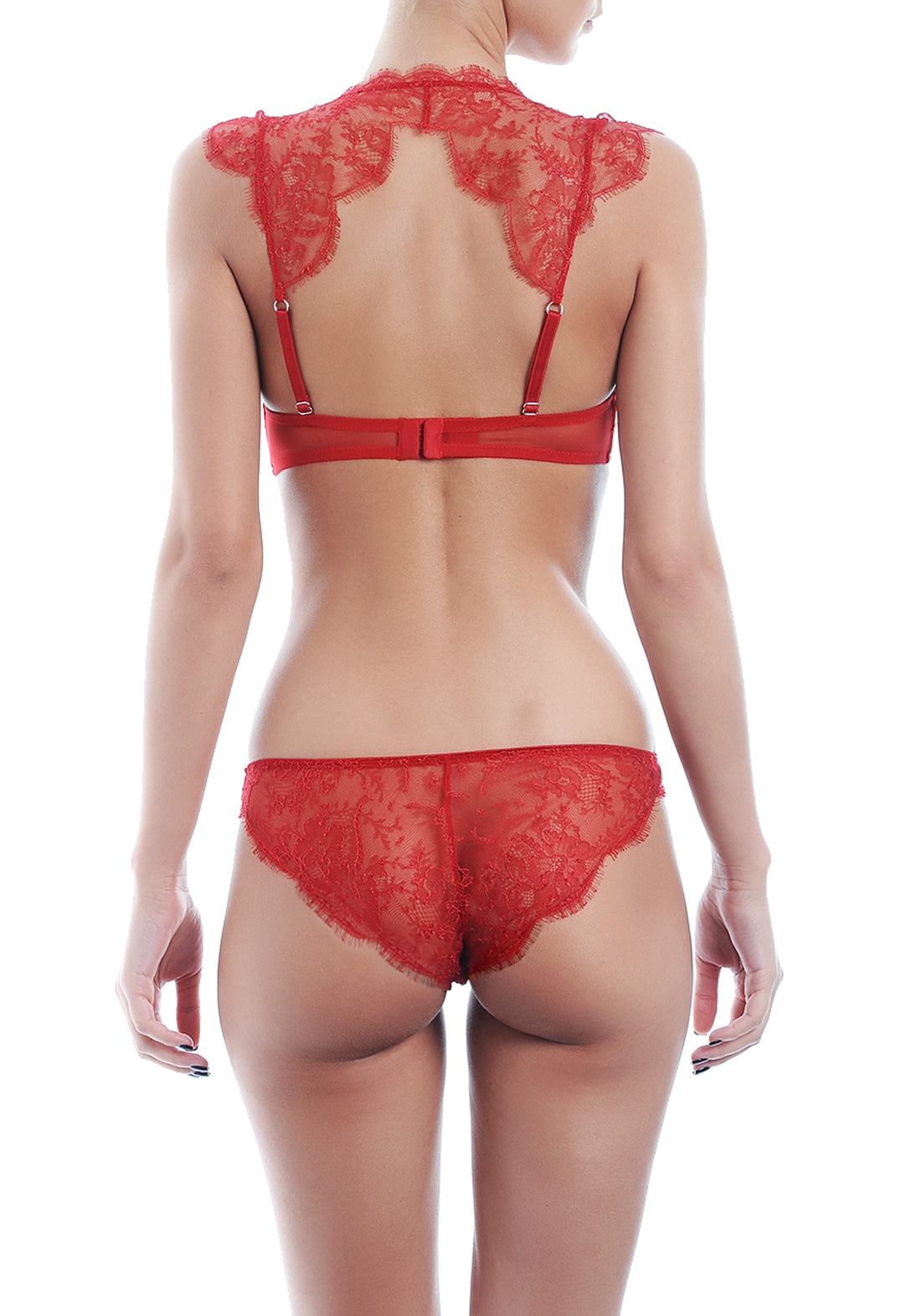 Belle Du Jour Push-Up Bra in Bright Red