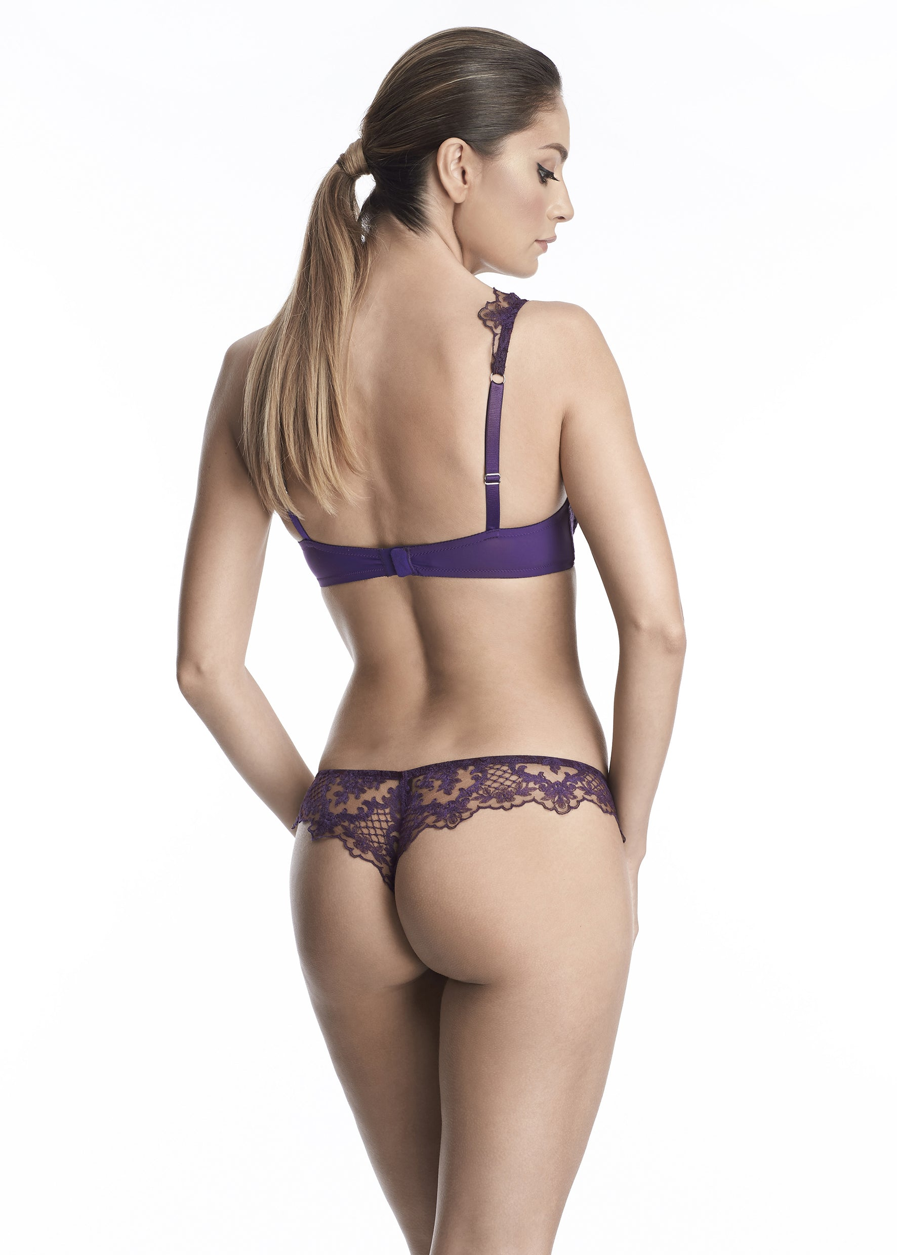 Endless Nights Thong in Purple Plum