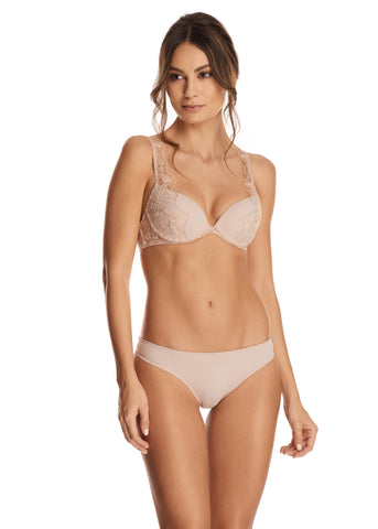 Nuit Interdit Brazilian Brief with Swarovski Crystals in Nude