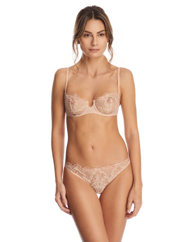 Endless Nights Balconette Bra in Blush