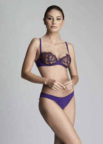 Endless Nights Padded Push-Up Bra in Purple Plum