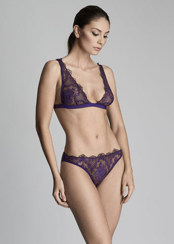 Bohemian Sundays Balconette Bra in Wine