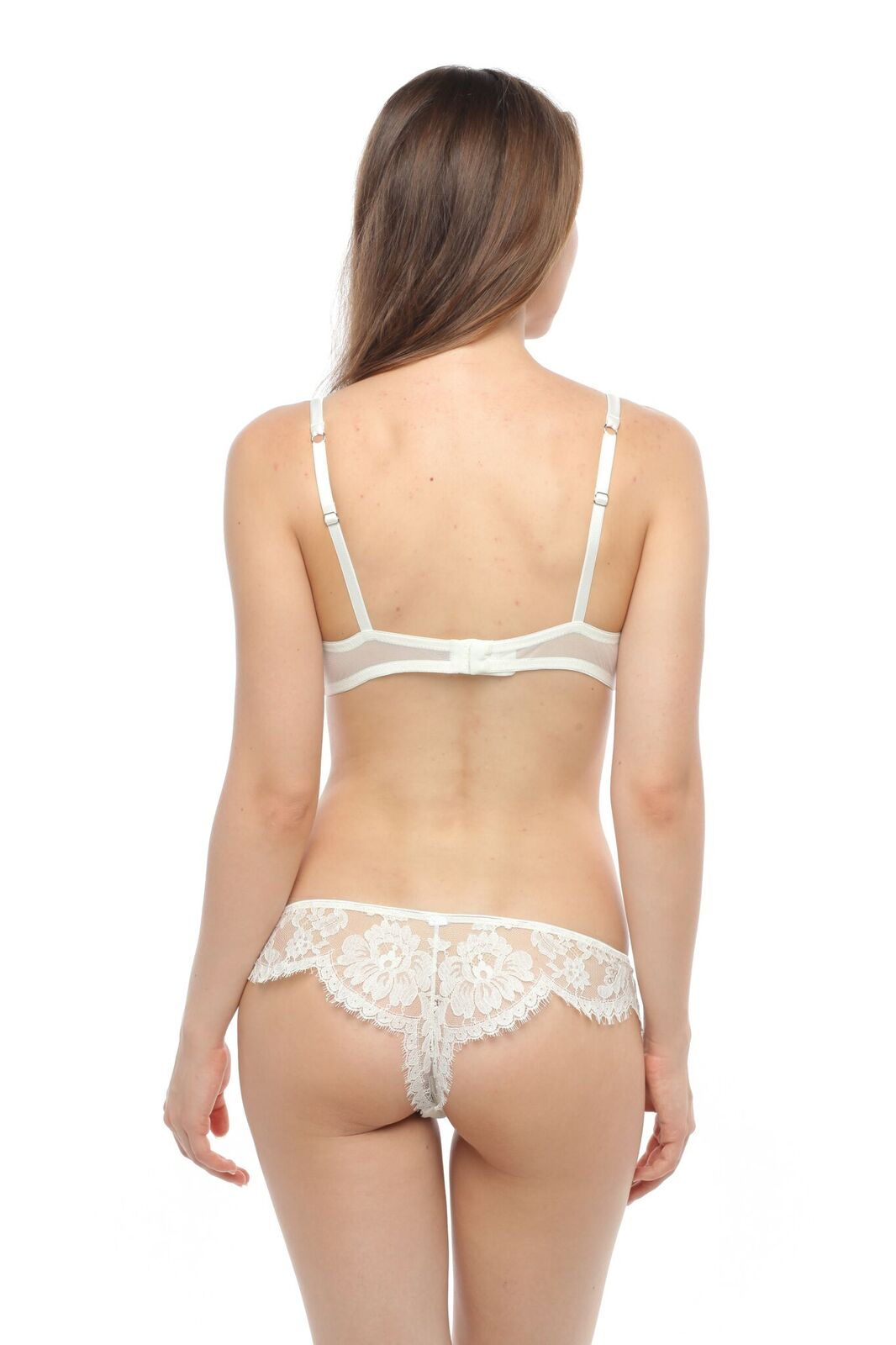 Essence D'Amour Plunge Padded Bra in Ivory