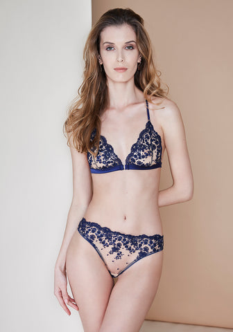 Amour Exquise Triangle Bra in Deep Marine