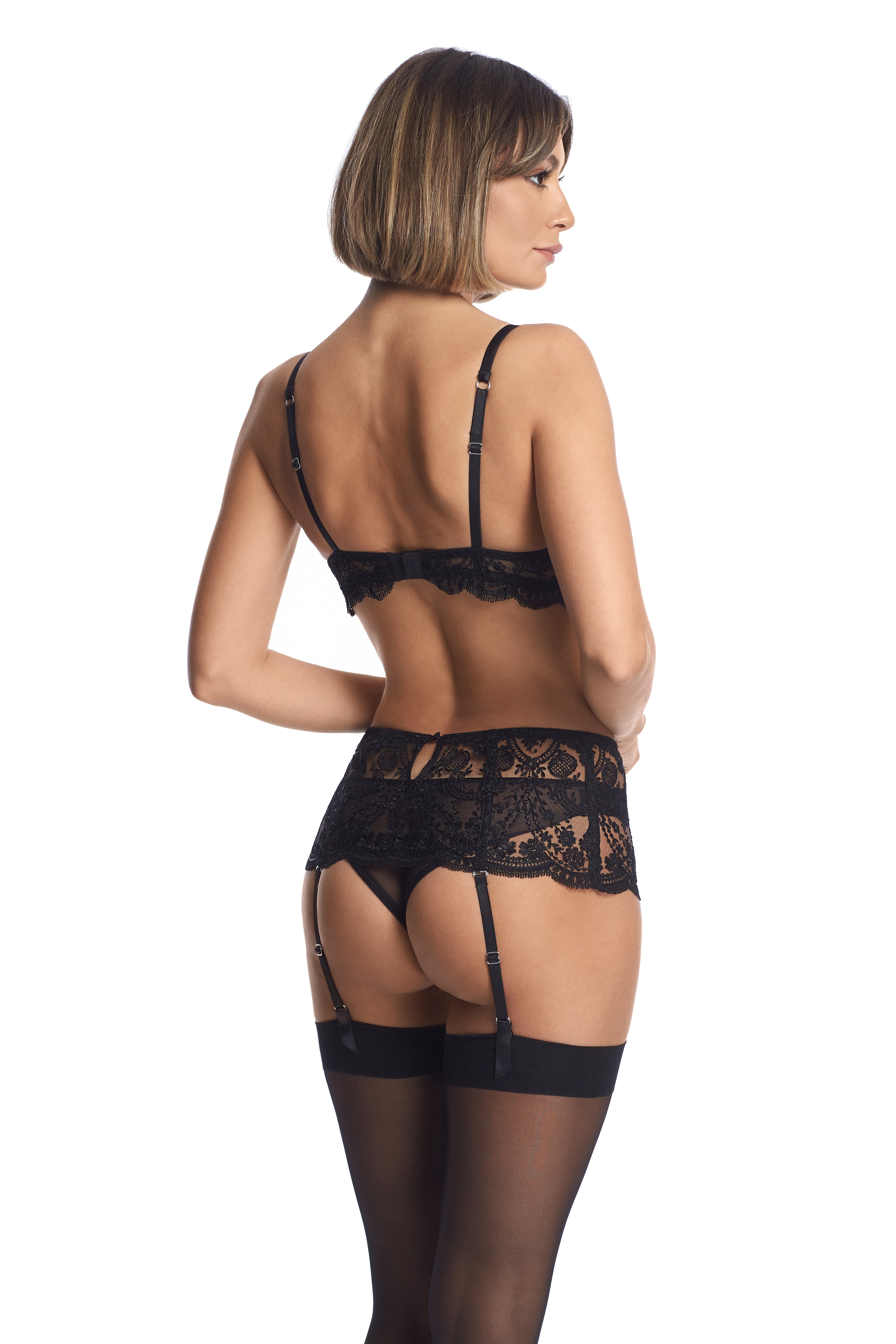 À La Rose Suspender in Black