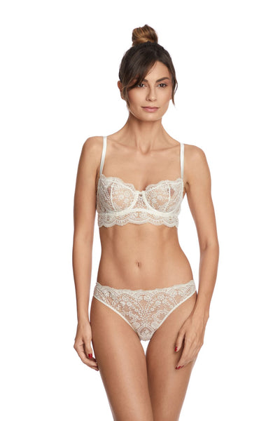 I.D. Sarrieri cream embroidery brief
