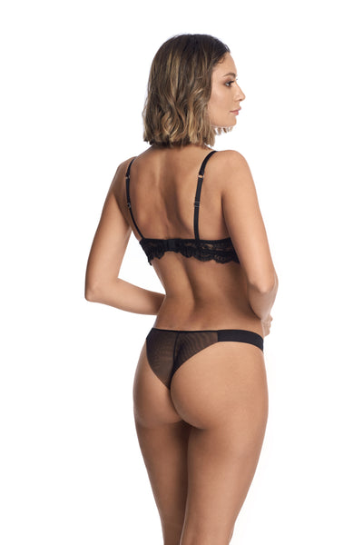 À La Rose Thong in Black - I.D. Sarrieri
