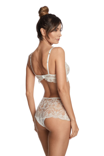 À La Rose Balconette Bra in Cream