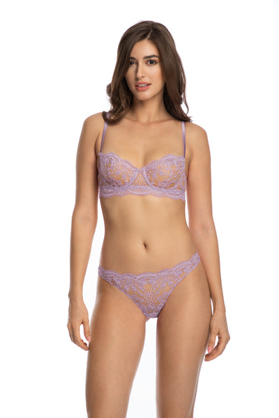 À La Rose Brief in Lilac - I.D. Sarrieri