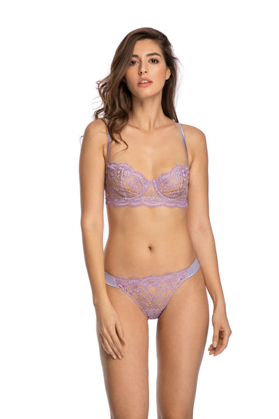 À La Rose Thong in Lilac - I.D. Sarrieri