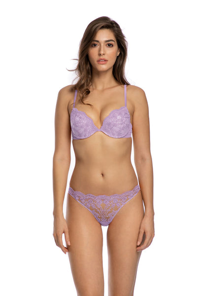 À La Rose Padded Push-Up Bra in Lilac - I.D. Sarrieri
