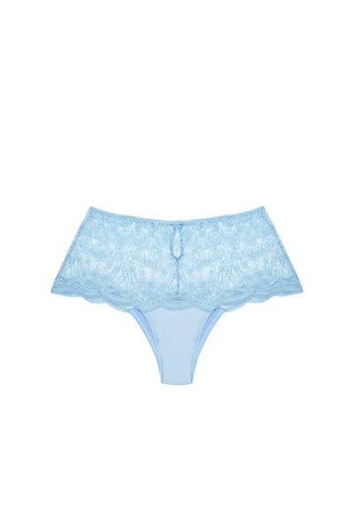 À La Rose High Waist Brief in Blue Ciel - I.D. Sarrieri