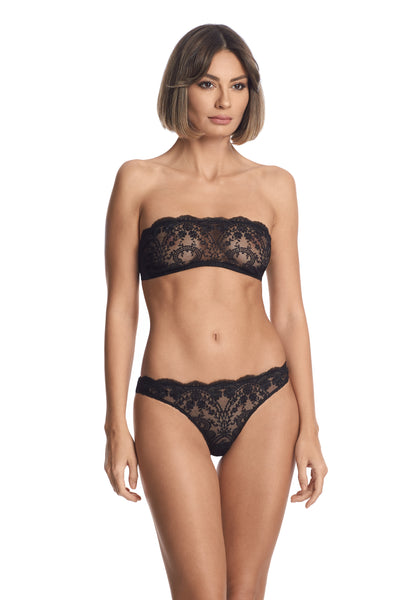 À La Rose Bandeau Bra in Black - I.D. Sarrieri