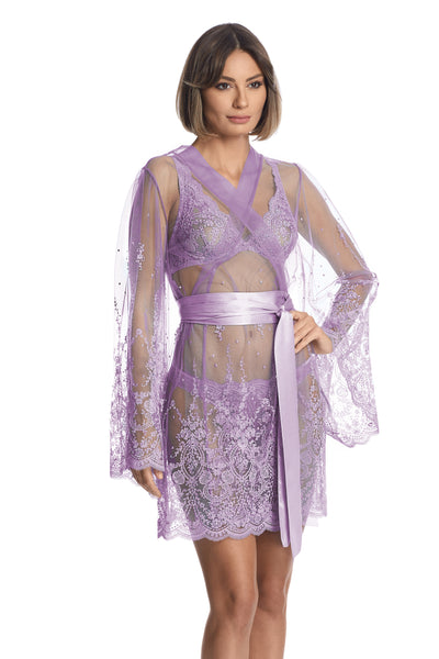 À La Rose Robe in Purple - I.D. Sarrieri
