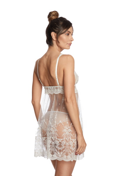 À La Rose Chemise in Cream - I.D. Sarrieri