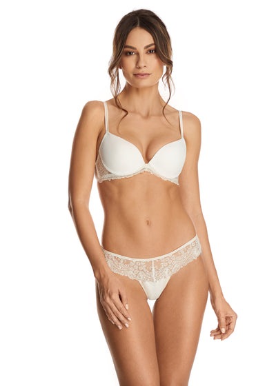 Trésor en Blanche Padded Push-Up Bra in Pearled Ivory
