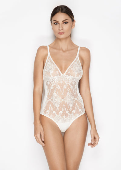 I.D. Sarrieri lace Bodysuit in Pearled Ivory