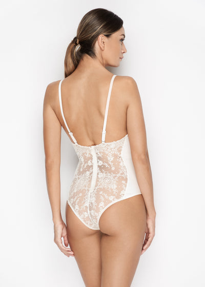 I.D. Sarrieri lace Bodysuit in Pearled Ivory  Edit alt text