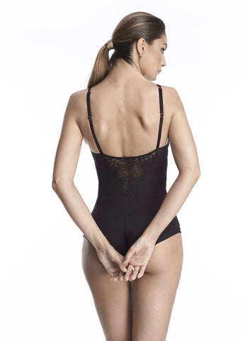 Madeleine Bodysuit in Black