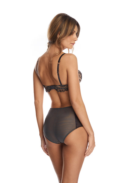 Forever Young Balconette Bra in Anthracite