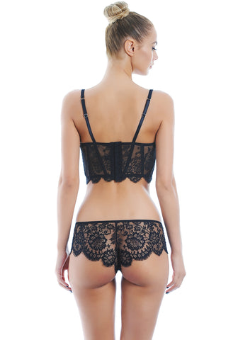Noir Comme La Robe Brazilian Brief in Black