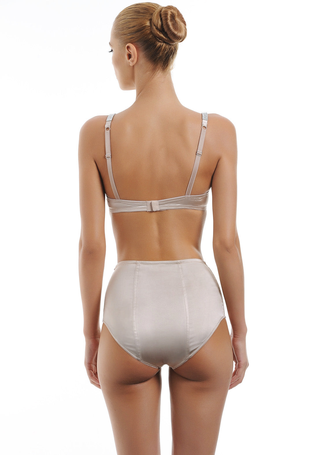 Hollywood Dream high waist brief with Swarovski crystals